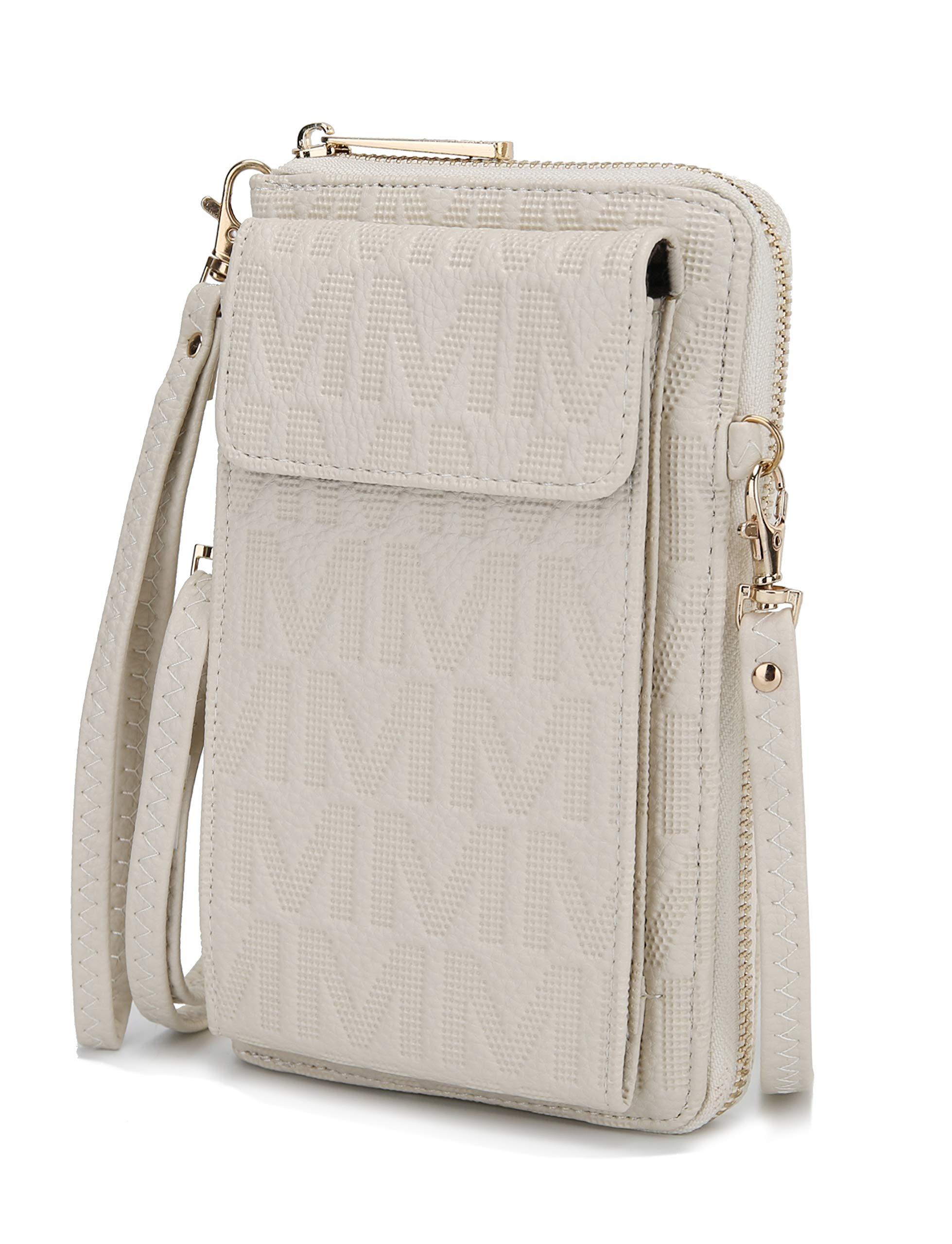 MKF Crossbody Cellphone Handbag for Women Wallet Purse – PU Leather Multi Pockets Clutch Bag Wristlet Strap