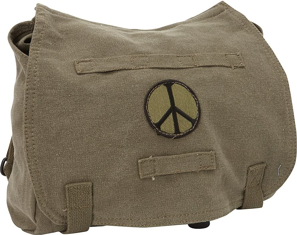 Fox Outdoor Products Retro Hungarian Shoulder Bag, Peace Olive Drab