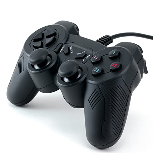 CSL - USB Gamepad for PC incl. Dual Vibration | Joypad Controller | Plug & Play | black | compatible Windows 10