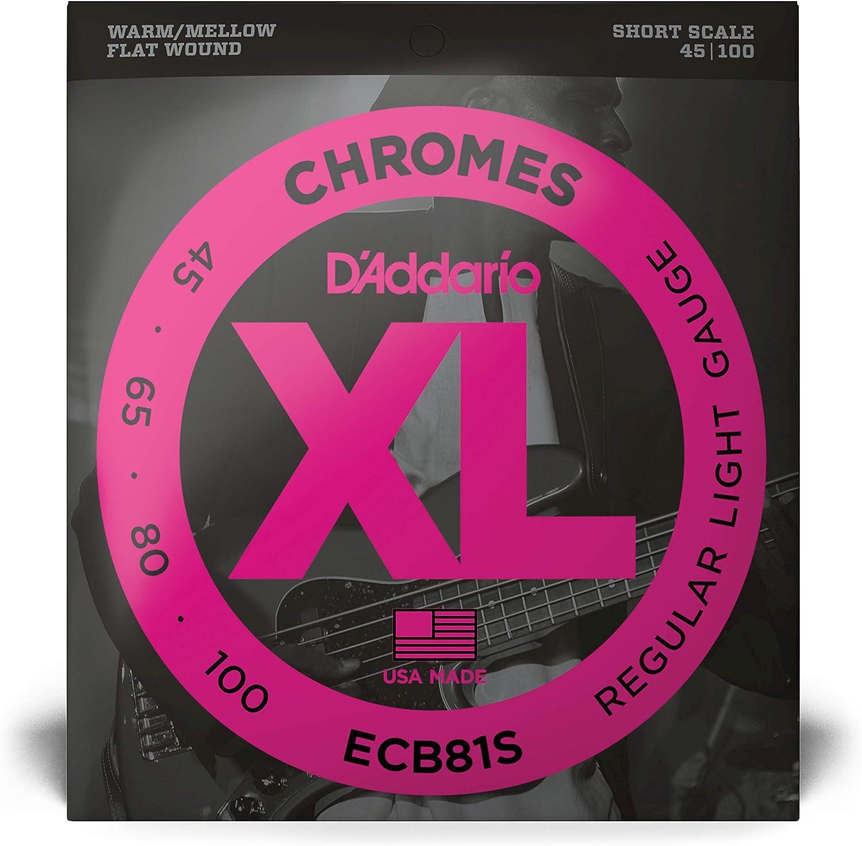 D/'Addario ECB81S Set Bass Chrome 45-100 Short