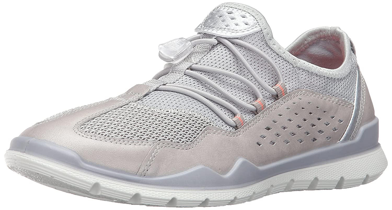 ECCO Women's Lynx Fashion Sneaker B0163GJA78 39 EU/8-8.5 M US|Silver Grey/Concrete