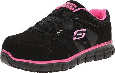 Skechers for Work Women's Synergy Sandlot Lace Up, Black