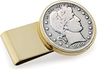 product image for Silver Barber Half Dollar Stainless Steel Coin Money Clip