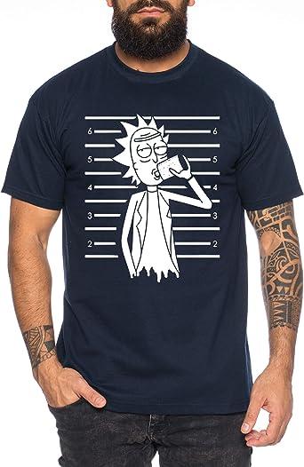 Rick Cárcel Camiseta de Hombre Morty Dan Sanchez Mr Rick Meeseeks Harmon: Amazon.es: Ropa y accesorios