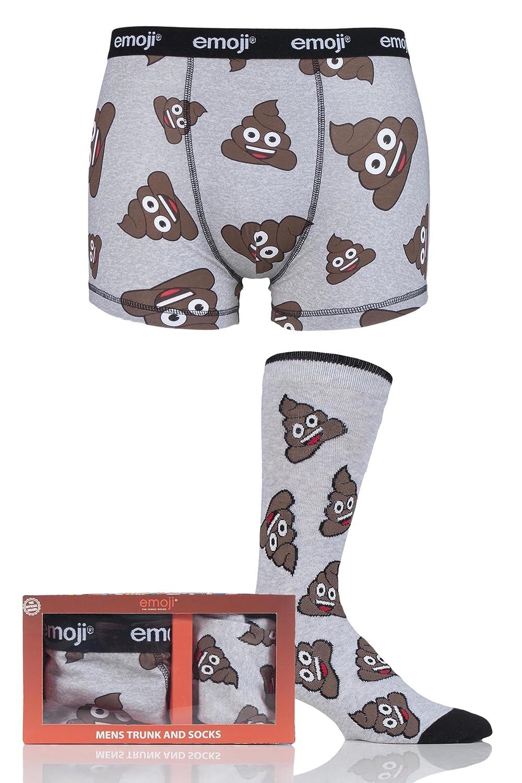 Film & TV Characters Mens SockShop Emoji Poo Boxers and Socks Set in Gift Box
