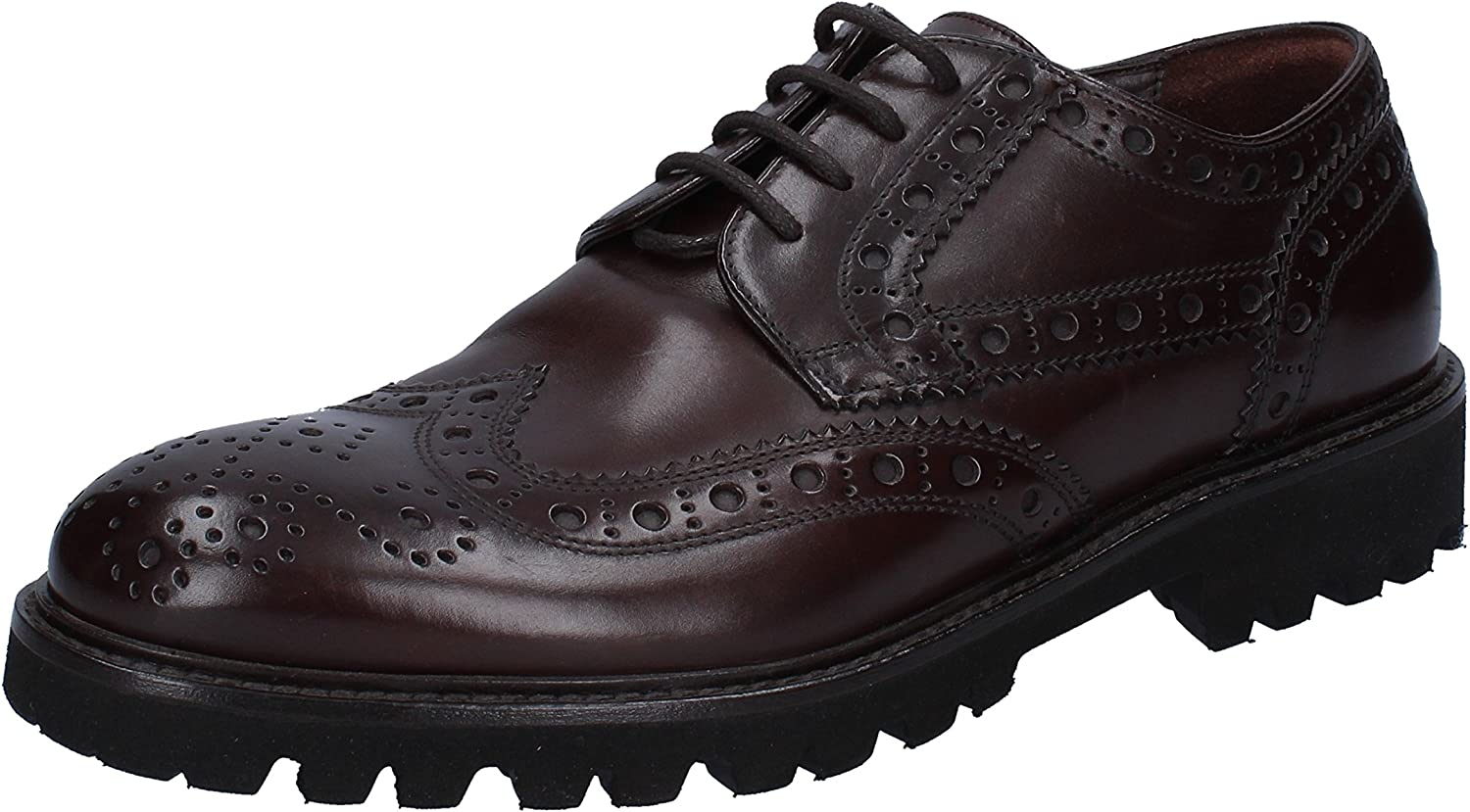 TRIVER FLIGHT Oxfords-Shoes Mens Leather Brown