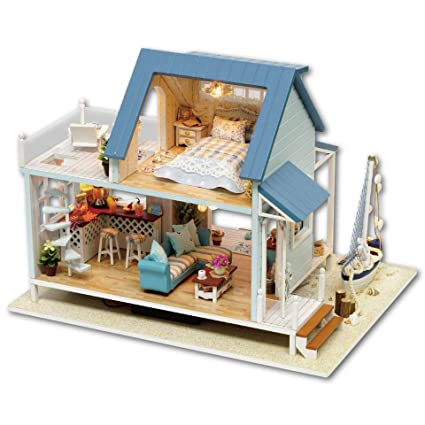 Amazoncom Qian Xi Diy Hut Handmade House Villa Assembled