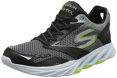 Skechers Go Run Vortex - Chaussures de Running Entrainement Homme - Gris (Gris/Bleu) - 42 EU