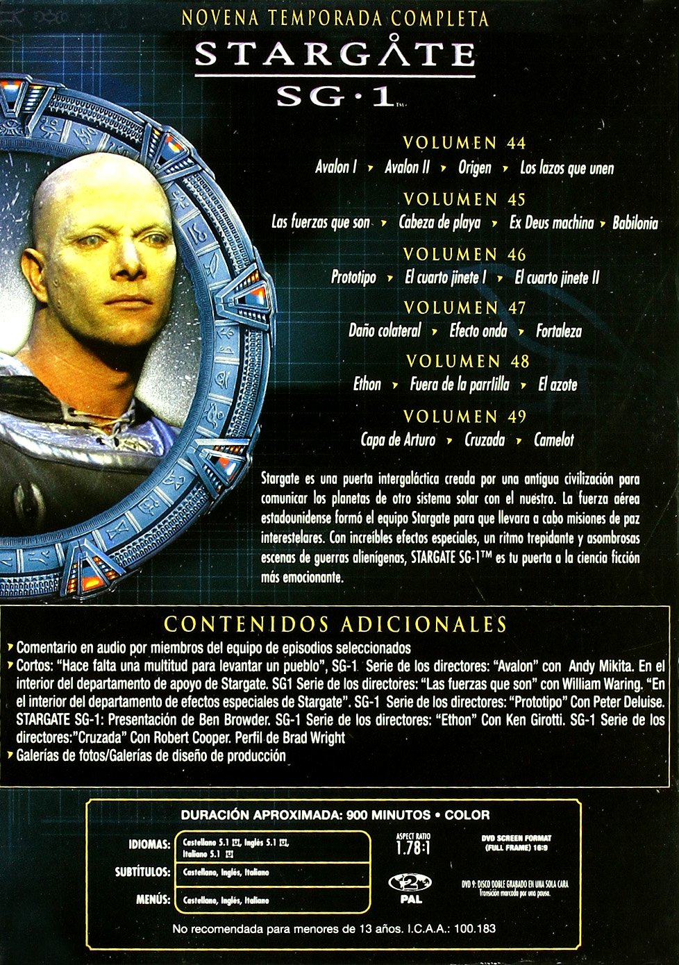 Stargate Sg-1 (9ª Temporada*** Europe Zone ***: Amazon.co.uk ...