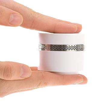 MINI DETECTOR DE HUMO Fumo 4 pieza | Alarma de incendio de diseño casero extra pequeña ...