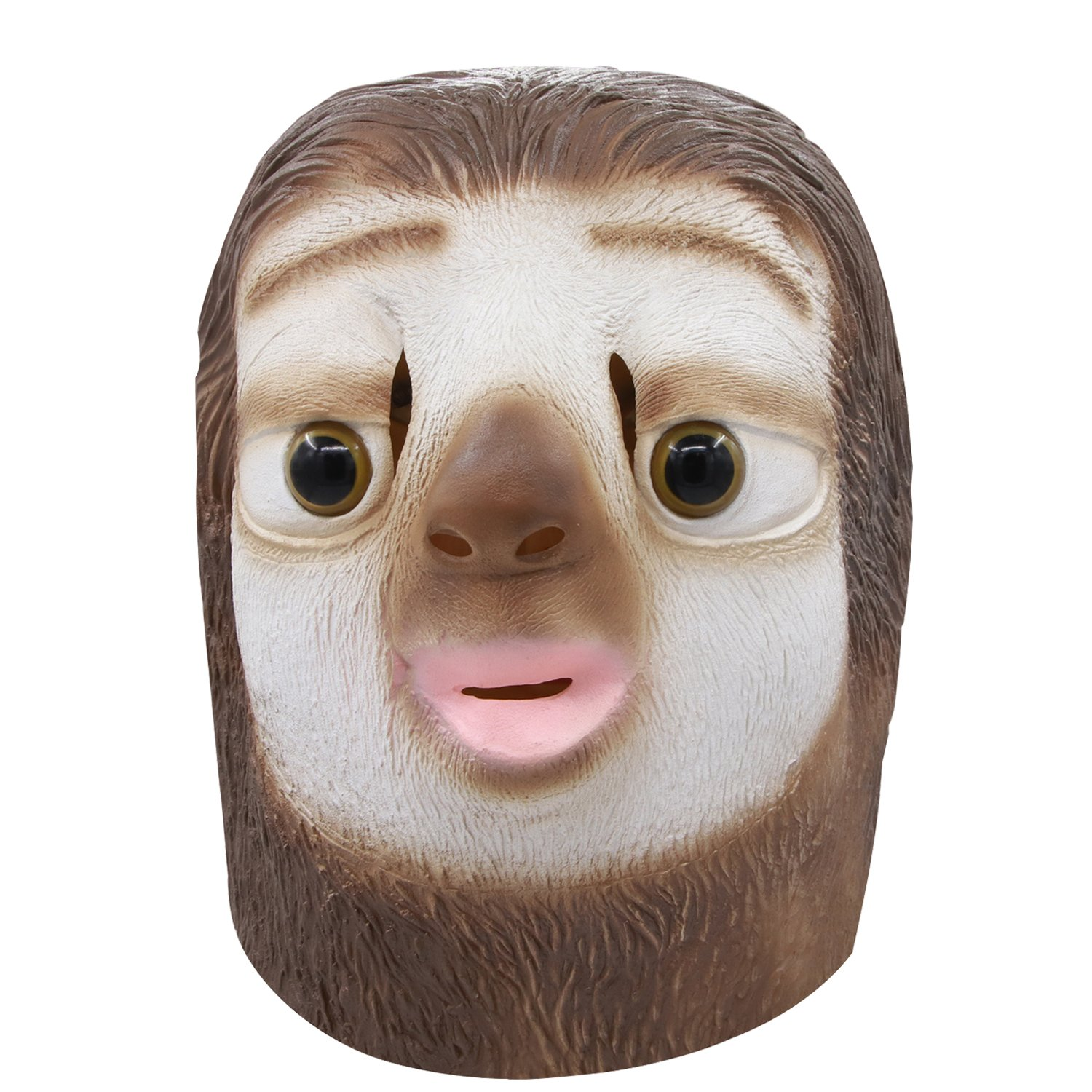 Waylike Novelty Sloth mask Halloween Costume Party Latex Animal Mask for Adult and Children
