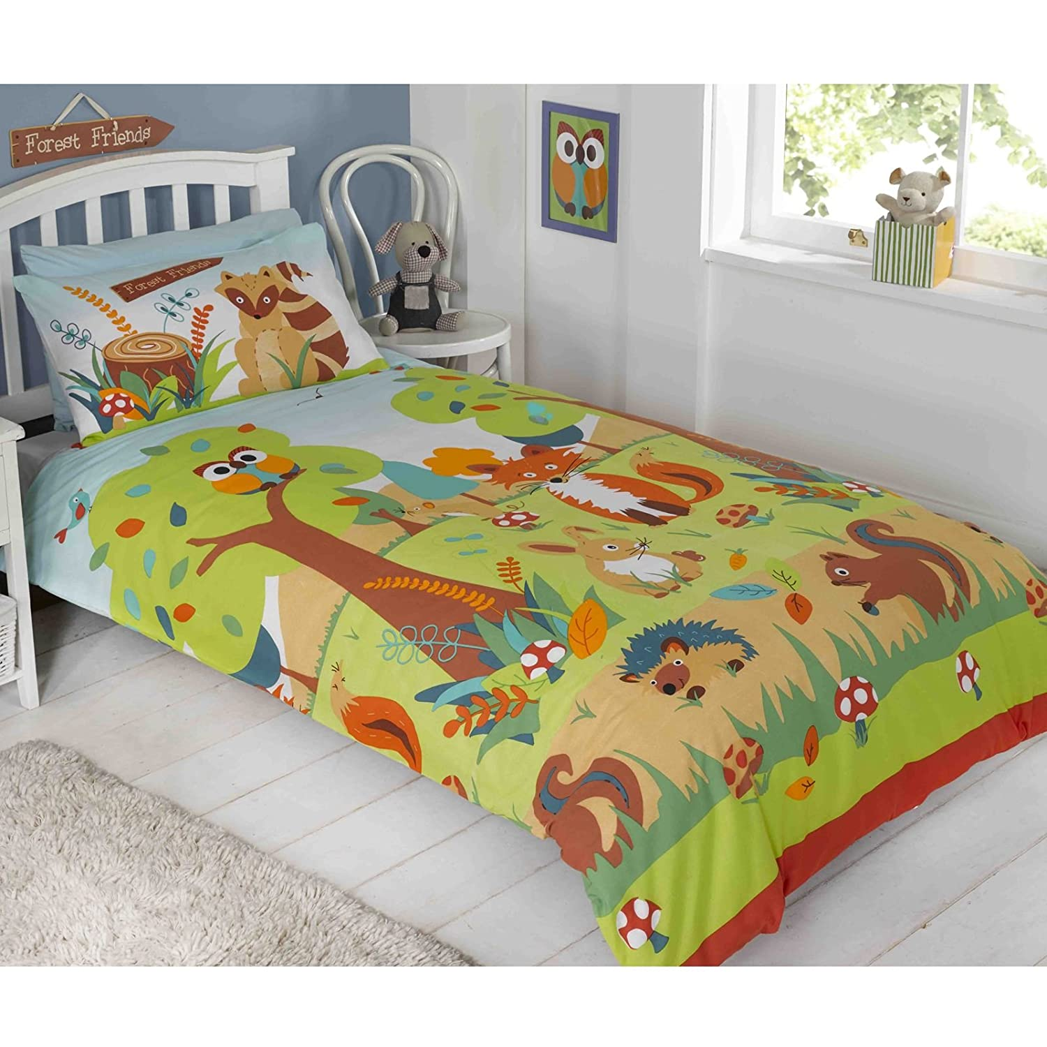 Forest Friends Childrens Duvet Set, Multi, Single