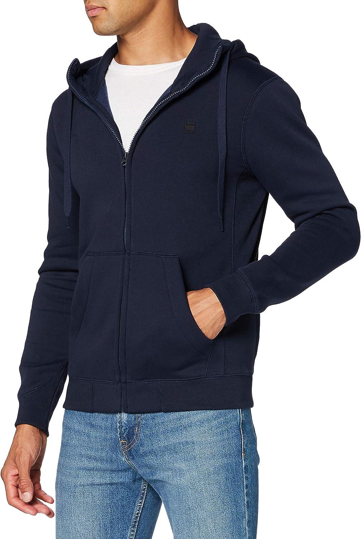 G-STAR RAW Premium Core Hooded Zip Sweat Jersey de Punto para Hombre