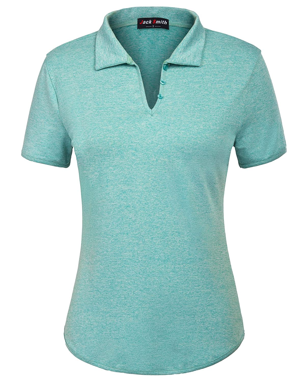 bluee Jack Smith Women's Short Sleeve Sports MoistureWicking Polo Shirt TShirt Tops