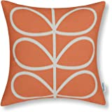 CaliTime Cushion Cover Throw Pillow Shell Cute Stem Geometric Figures 45cm X 45cm Orange