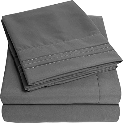Supreme Collection Extra Soft King Sheets Set, Gray