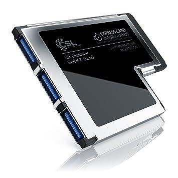 CSL USB 3.0 EXPressCard 54 mm 3 Puertos: Amazon.es: Electrónica