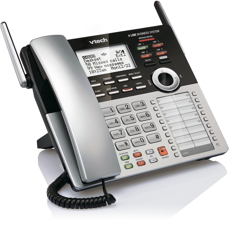 VTech 4-Line Small Business Phone System - Office Starter Bundle with  1 CM18445 Main Console, 1 CM18245 Deskset & 1 CM18045 Handset by VTech (Image #20)