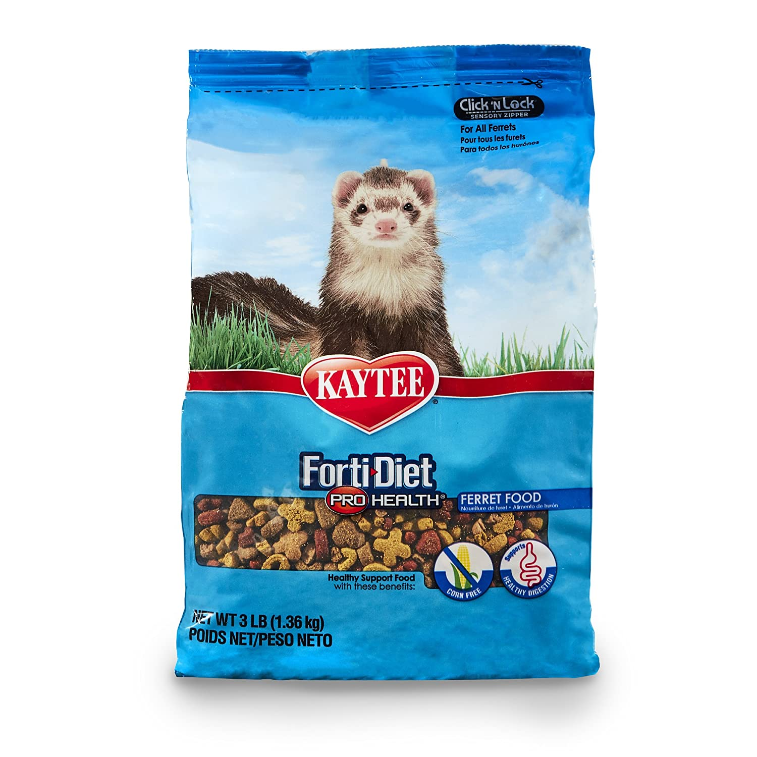Kaytee Forti Diet Pro Health Small Animal Food for Ferrets 3-Pound