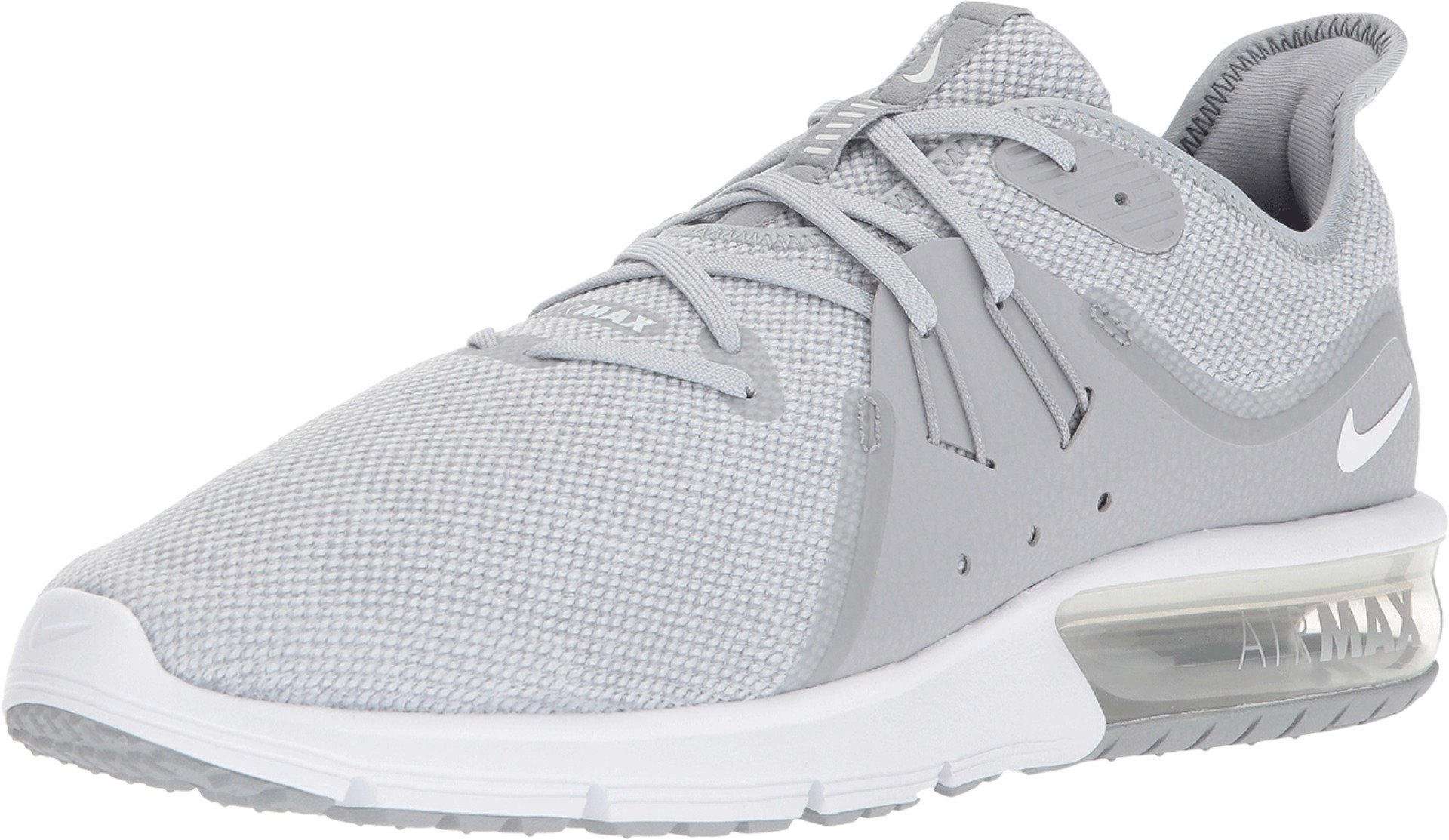 Nike Men's Air Max Sequent 3 Running Shoes Wolf Grey/White-Pure Platinum 7