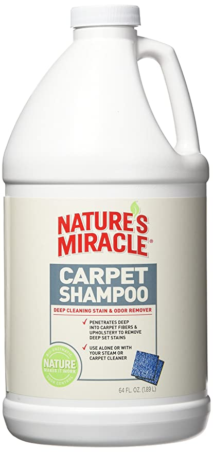 Nature S Miracle Deep Cleaning Pet Stain And Odor Carpet Shampoo 64oz 1 2 Gallon