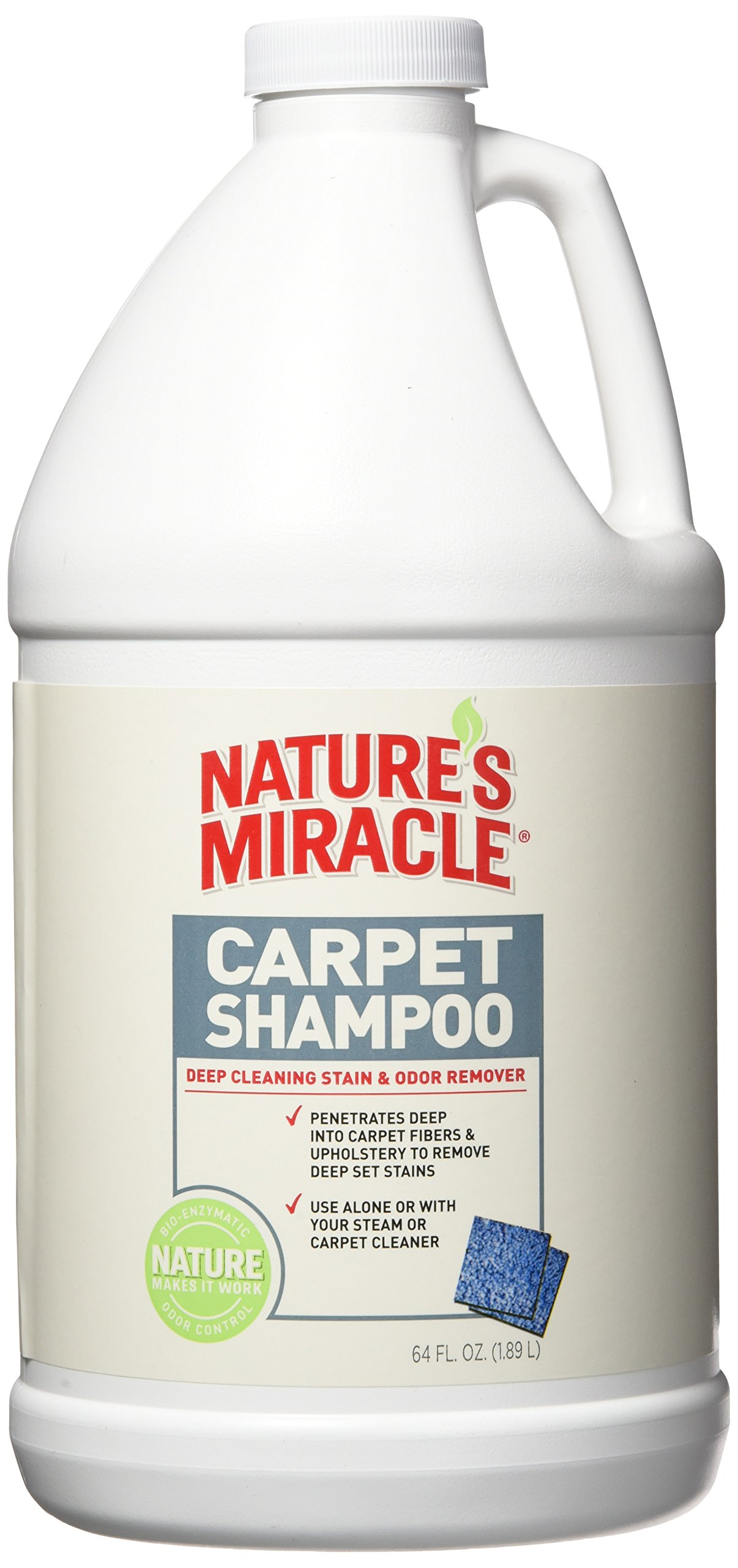 Nature's Miracle Deep Cleaning Pet Stain and Odor Carpet Shampoo 64oz (1/2 Gallon) by Nature's Miracle