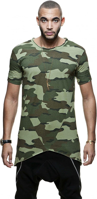 Camiseta militar hombre Long Camo manga corta asimétrica stratom Multicolor multicolor: Amazon.es: Ropa y accesorios