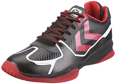 AUTHENTIC CARBON X 60-036-2030, Unisex - Erwachsene Sportschuhe - Indoor, Schwarz (BLACK/TRUE RED 2030), EU 40 (US 6.5) Hummel