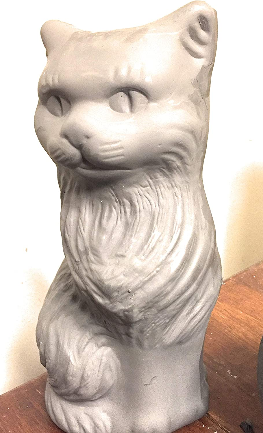 Kitten Animal Pet Ceramic Bisque Ready to Paint Tall Ceramic Cat with Pretty Eyes 16 in CAT