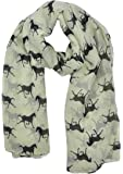 Ladies Women's Horse Print Scarf Wraps Shawl Soft Scarves