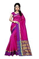 Indian Fashionista Uppada Silk Saree with Blouse Piece (Ethnic Party Wear Saree For Women)