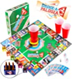 "DRINK-A-PALOOZA Board Game: combines ""old-school"" + ""new school"" drinking games & adult games with beer pong, flip cup, kings cup card game & the best adult party games"