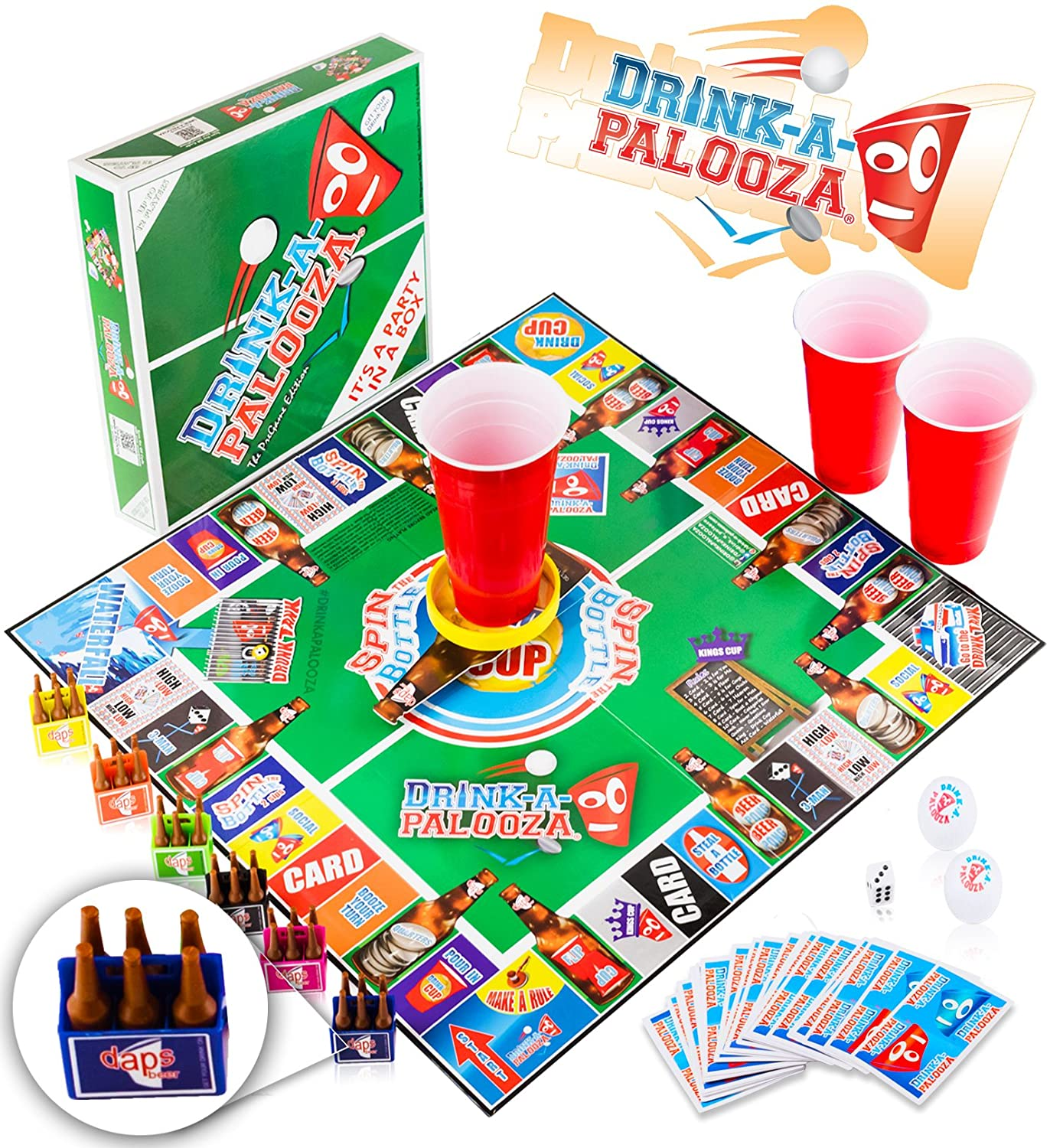 DRINK-A-PALOOZA Party Game: the Drinking Game that combines