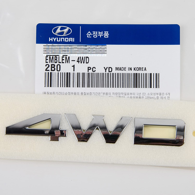 009 Hyundai Santa Fe 4WD Emblem *GENUINE OEM PART by Mobis