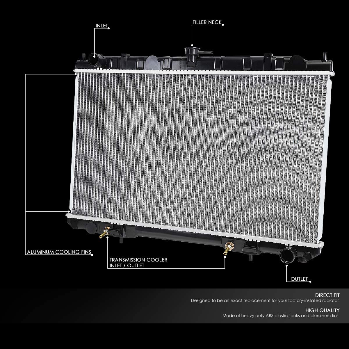 Fit 95-04 Nissan Maxima//Infiniti I30//I35 AT OE Aluminum Core Radiator DPI 2329
