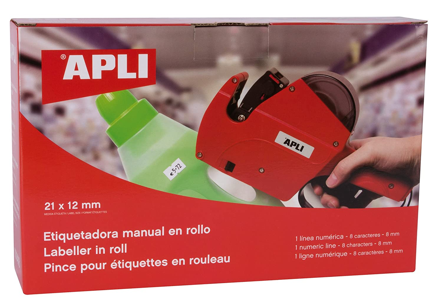 Apli 101418 1 Digital Line/8 Characters Pricing Gun