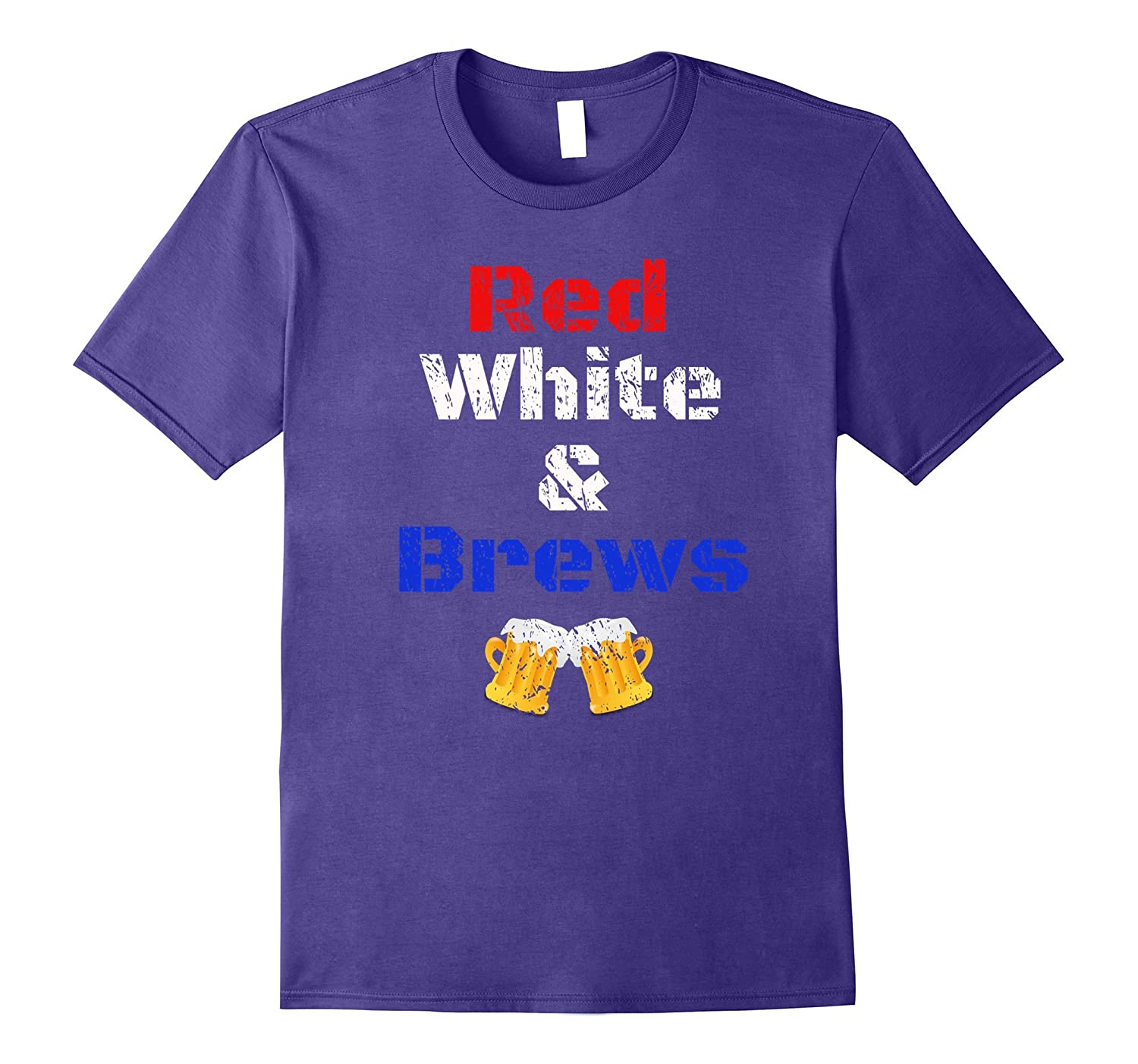 4th of July - Red White & Brews, distressed look-TH