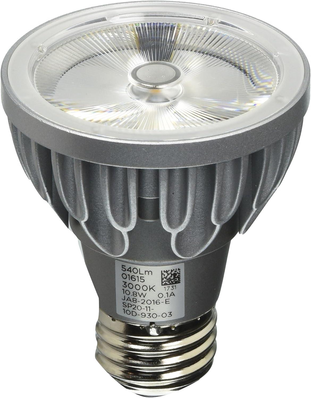 Bulbrite SP20-11-25D-830-03 SORAA 10.8W LED PAR20 3000K Brilliant 25/° DIM Silver