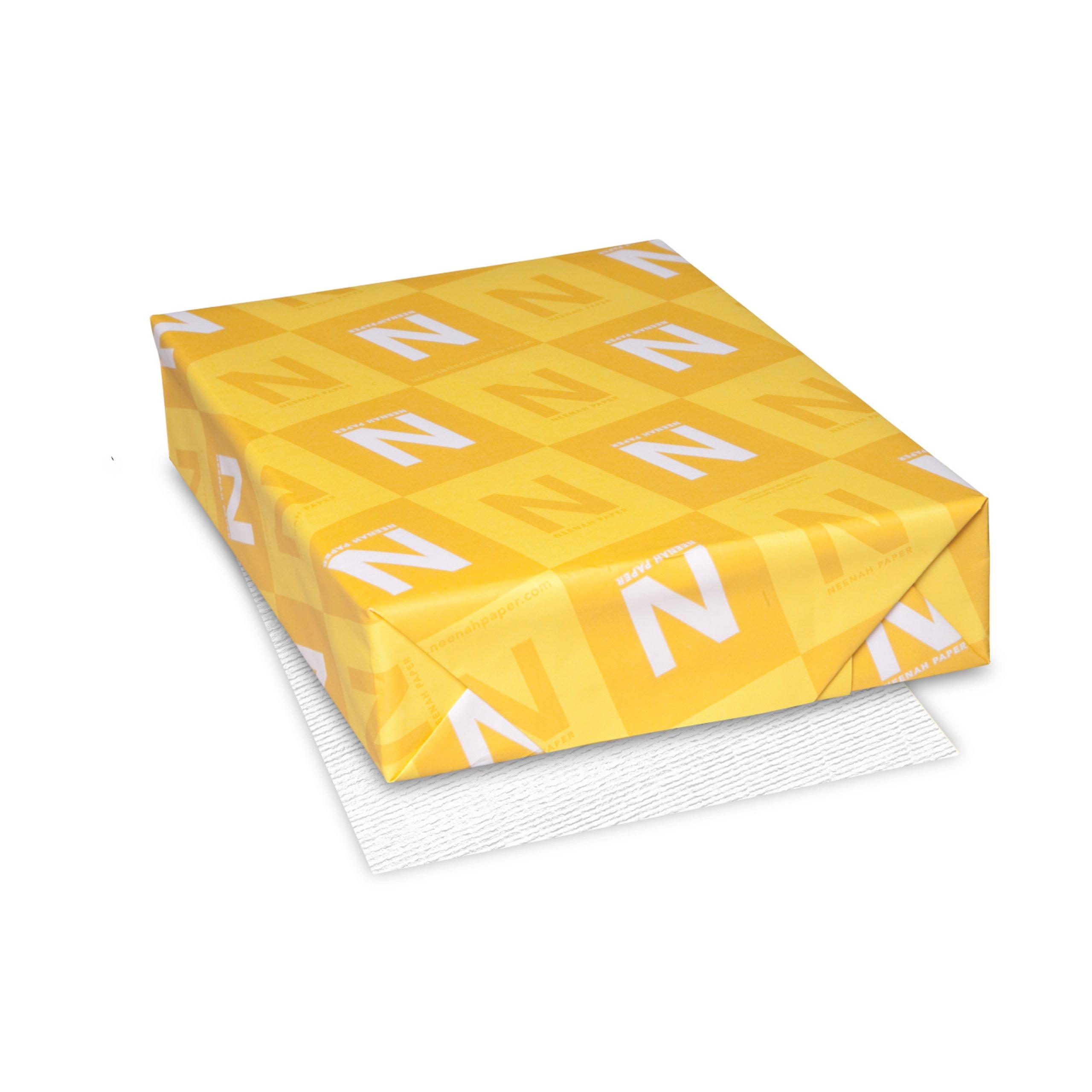 Classic Laid Premium Paper, 8.5'' x 11'', 24 lb, Avon Brilliant White, 97 Brightness, 500 Sheets (06511)