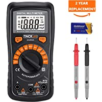 Tacklife DM02A Classic Digital Multimeter with LCD Backlight (Black)
