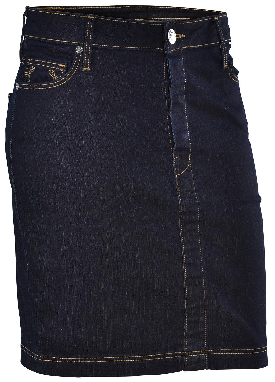 True Religion Women's Auburn Lonestar Denim Horseshoe Skirt