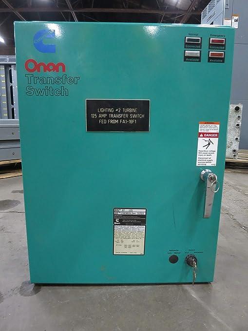 Onan 125A 480V 306-3487-06 OT125 Automatic Transfer Switch ... Onan Transfer Switch Wiring Diagram on
