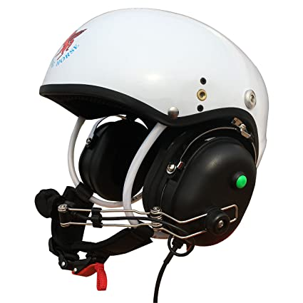 Professional Communication Helmet for Powered Paragliding and Paramotor (White) Size:L