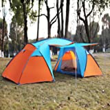 Tent Outdoor Family C&ing Hiking 4 Person Sport Travel Waterproof : harley tent - memphite.com