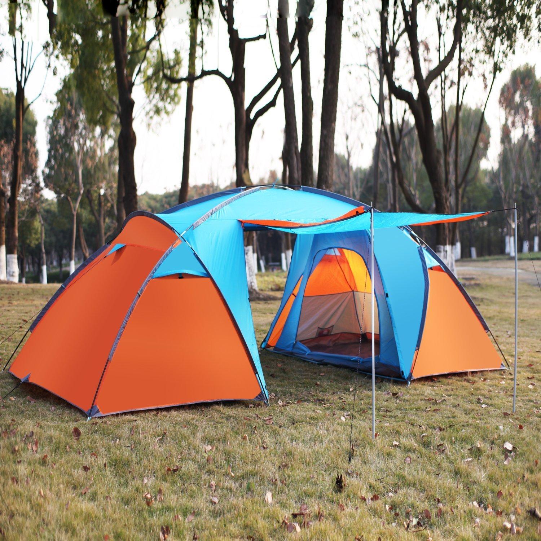 Zelt Familienzelt Tunnelzelt Campingzelt für 4 Personen Wassersäule: 3000 mm 460230180 CM
