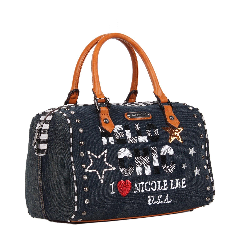 Nicole Lee Mujer JS12376-DS cartera Theora de mezclilla y lentejuelas Talla única: Amazon.es: Zapatos y complementos