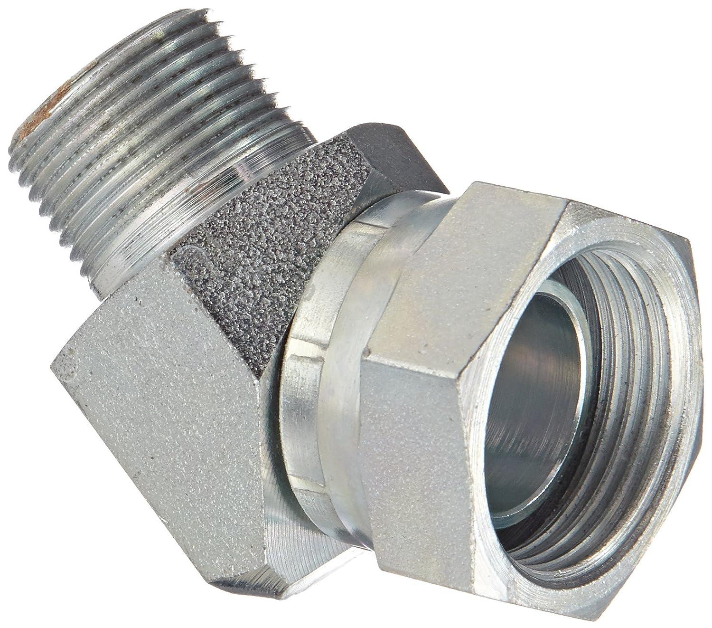 Swivel Eaton Weatherhead 9355X12X12 Carbon Steel Fitting 45 Degree Elbow 3//4 NPSM Female x 3//4 NPT Male