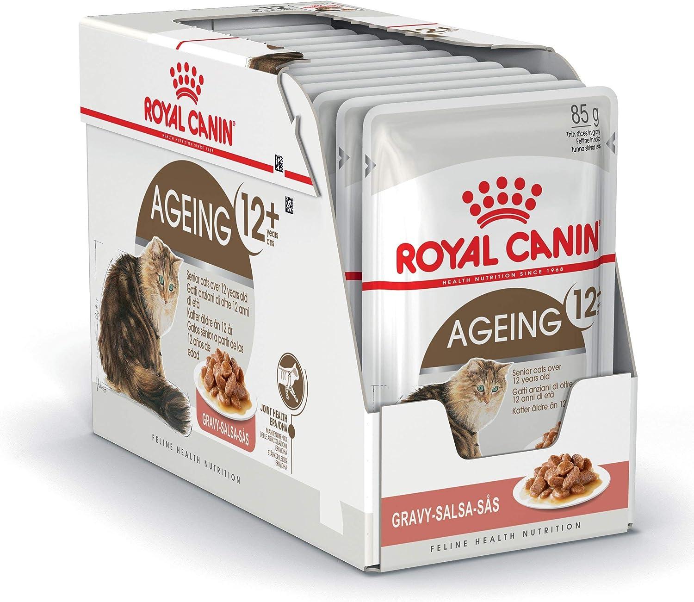 ROYAL CANIN Ageing +12 Comida para Gatos - Paquete de 12 x 85 gr - Total: 1020 gr