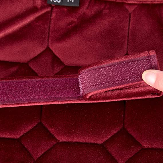 Merauno Schabracke Velvet Dressur Square Pad Jumping Pad Schnelltrocknende Baumwolle Hochwertiges klassisches Design
