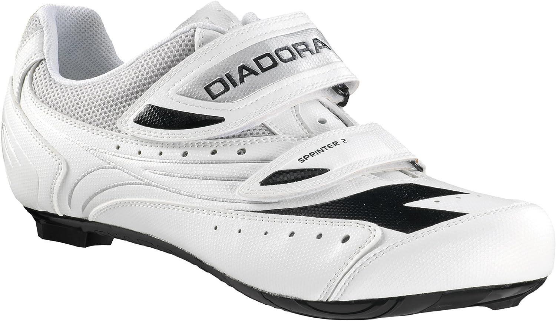 Diadora Sprinter 2 Zapatilla de, Blanco/Plata/Negro, Color, Talla ...